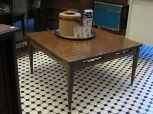 This coffee table from Hutch Vintage in Echo Park is simple and gorgeous (and a steal at only $60).