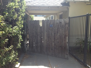 Saw this gate in West Hollywood, fell in love. The home's owner told me a friend gave it to her and that it was really old. She didn't seem to care about its beauty-- she simply wanted to keep folks out of her back yard.