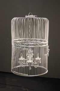 Birdcage Chandelier. Here's a secret: I hung it in my living room!