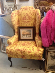 I love a wingback, and this fabric... perfection.