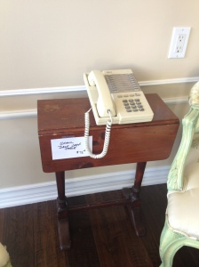 $75 for this telephone table!??! I MIGHT pay $15!