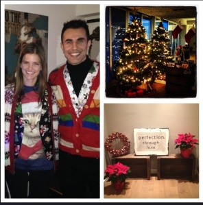 Just for fun-- ugly sweaters, my Christmas tree, and a little nook filled with holiday cheer!
