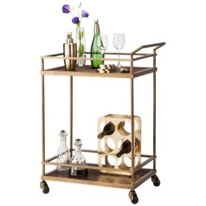 Add this pretty bar cart.