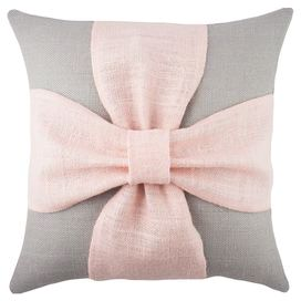 Bow+Pillow+in+Grey