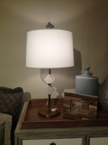This lamp just feels luxe.