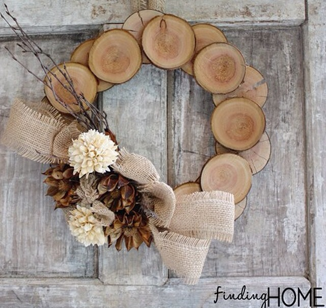"I am obsessed with this wreath from ""Finding Home."" You can find Laura's tutorial here."
