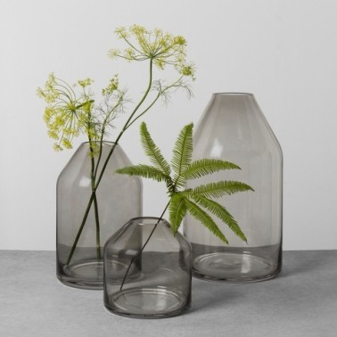 Hearth and Hand Smoke Glass Vases