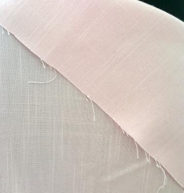 DIY Frayed Edge Napkins Fabric Detail